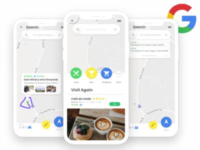 Google Maps - Uplabs UI Challenge