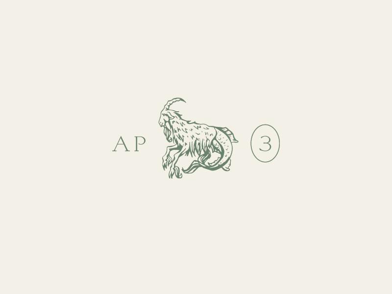 Capricornus typography capricorn pencil branding sketch illustration