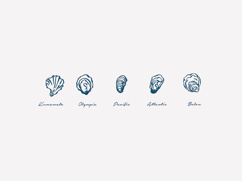 F/F Oysters monogram design icon design icon subbrand submark lockup illustration restaurant branding typography branding