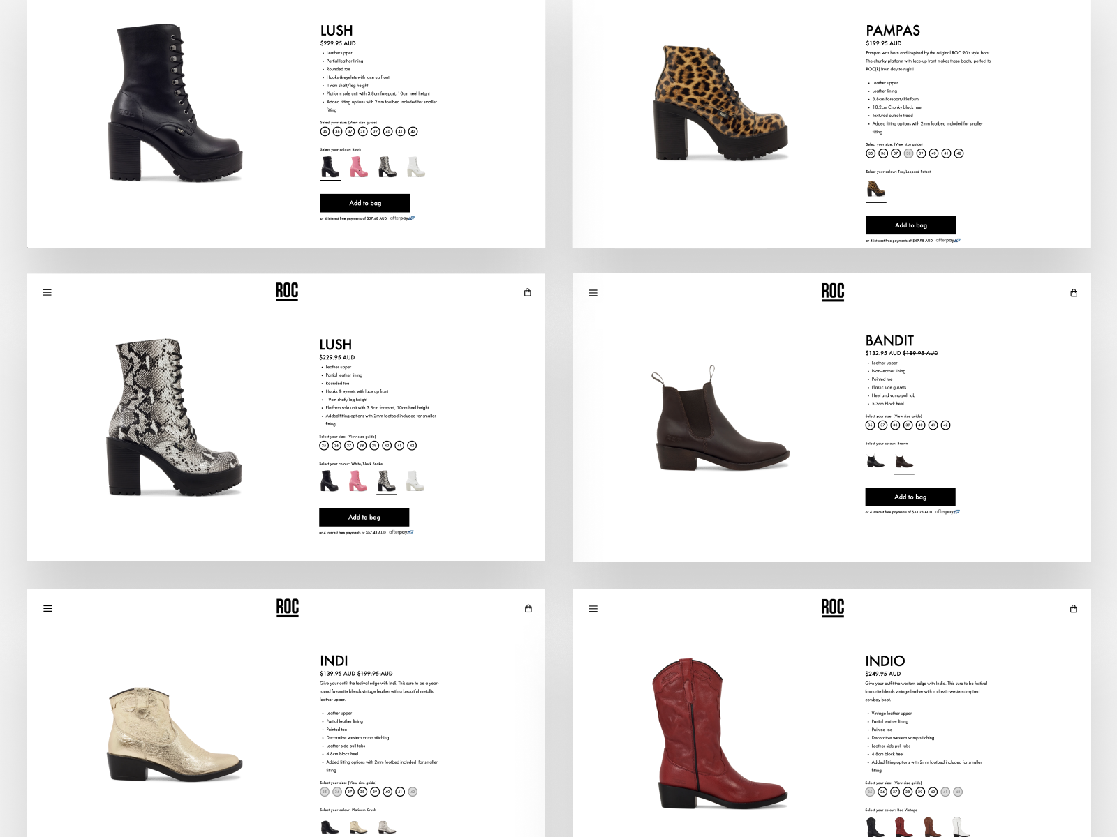 Roc Boots Shopify Design Development By Adam Tregear For Flux Agency On Dribbble