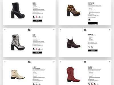 ROC Boots - Product Page shopifyplus flux.agency ux ui product page melbourne flux australia shopify ecommerce