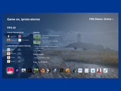 PlayStation 5 Dashboard Version 2