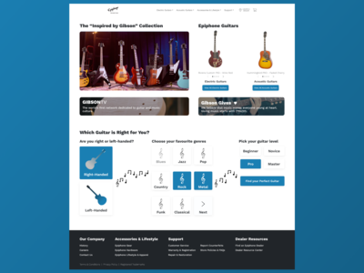 Epiphone Website Redesign