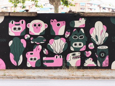 """""""Stay Wild"""" Mural / Wall Lab Artistic Programme characters character design illustration streetart mural"""