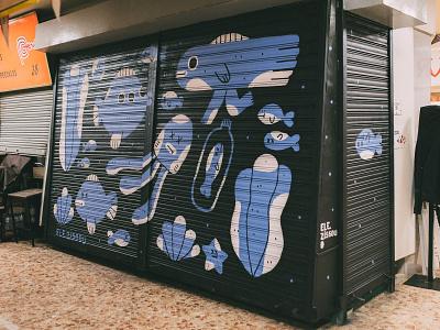 Pinta Malasaña / Mural characters character design illustration streetart mural