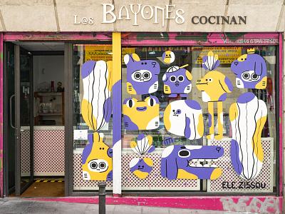 C.A.L.L.E. Lavapiés / Mural characters character design streetart illustration mural