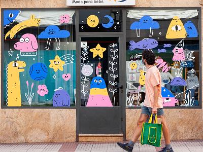 CREA Alcobendas / Mural characters character design illustration streetart mural