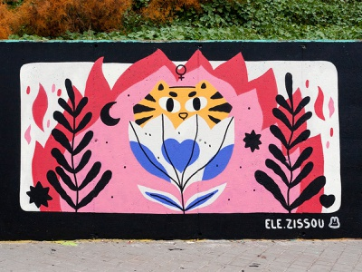 Mural for a Womart Jam organized by Wallspot mural characters character design illustration