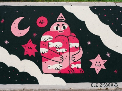 Mural for Wallspot Madrid Opening mural streetart characters character design illustration