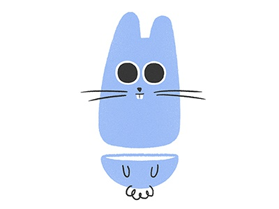 Creepy Rabbit character design illustration