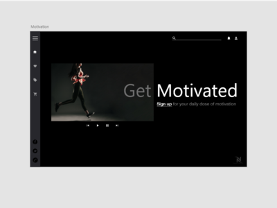Daily UI Challenge - Get Motivated Landing page