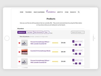Lavandula - Product page