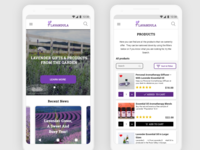 Lavandula - Progressive Web App - mobile view I