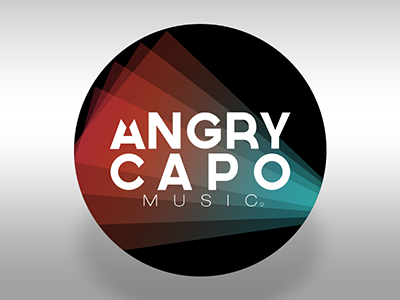 Angry Capo Music logo branding music brand design record label