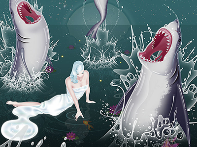 Sharks illustration digital