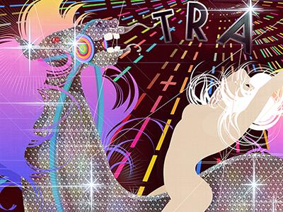 Disco Horse illustration digital