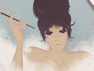 Bubble Bath digital fashion illustration print