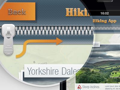 Hiking app app ios sport hiking finder graphic design graphic design ui ux