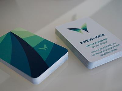Business card business card butterfly logo