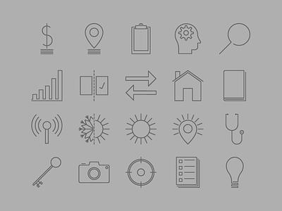 Icon Set pixel perfect illustrator font icons