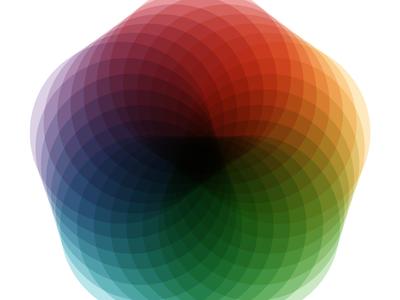 Beautiful Geometry illustrator rainbow color