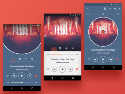 Player layout sketch dj material design design ui android player music