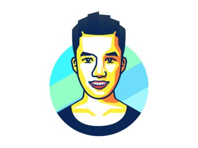 Portrait sketch avatar illustration