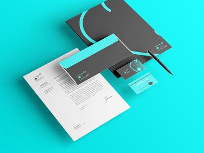 identity presentation creative identity brand logo vector design branding