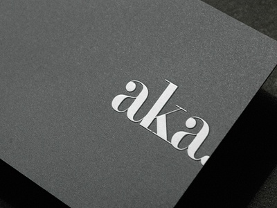 AKA registered and debossed business card