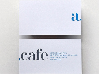 AKA cafe business card