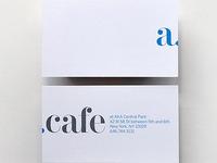 AKA cafe business card