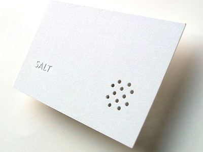 Restaurant business card (2002)