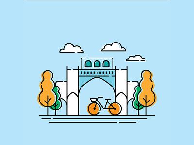 Qur'an Gate - shiraz iran shiraz vector illustration vector illustration design graphic design