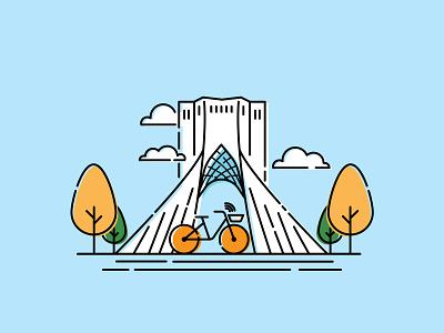 Tehran illustraion uidesign ui design vector illustration vector tehran