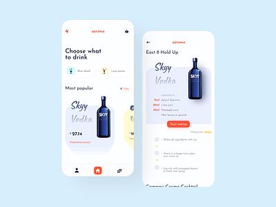 Drink preparation 2020 trend food vodka] skyy drink 2020 branding design uielements minimal dribbble basics uidesign exploring
