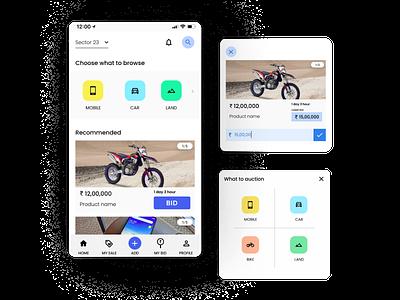 Bidding bitcoin bidding mobile branding dailyui webdesign uielements dribbble minimal exploring uidesign basics