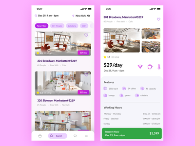 Co-working Space moodboard uidesign dribbble 2020 workfromhome coworkingspace wework