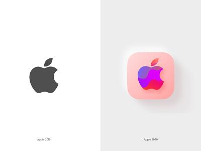 Apple logo 2020 rethinking illustrations figma mirror colour logodesign 2020 logo ui apple