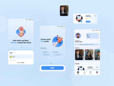 Connecting Mentors with Mentees uxdesign minimal dailyui webdesign uielements exploring login mentorship 2021 dribbble connection mentees mentors