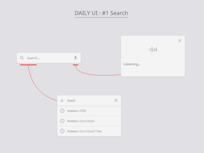 Daily UI : #1 Search