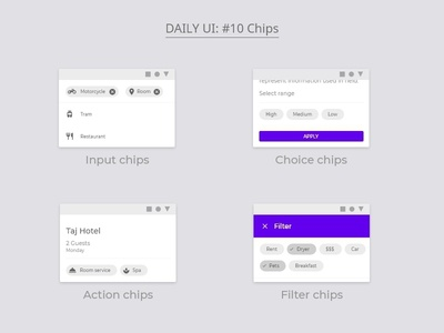Daily UI : #10 Chips