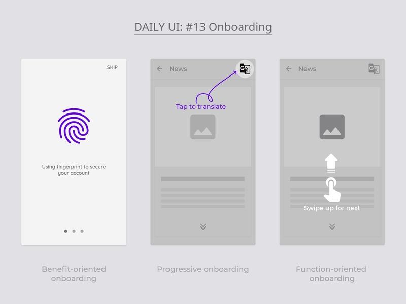 Daily UI : #13 Onboarding dailychallenges dailyui 13 basics dribbble smashingmagazine learning uiux progressive oriented benifit function onboarding uidesign webdesign 2019