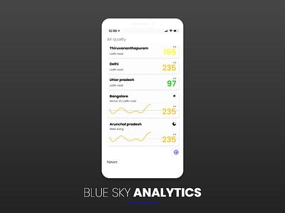 BLUE SKY ANALYTICS app design vector branding design uielements minimal dribbble basics exploring uidesign