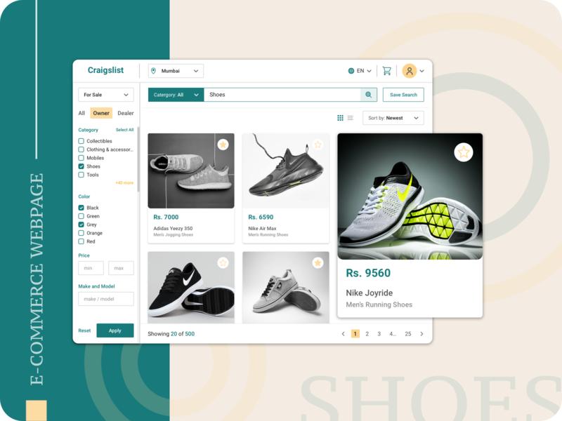 E-Commerce Webpage Design