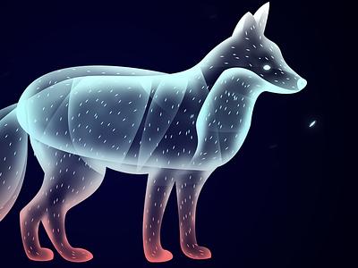 Fox creature beauty animal soul ethereal illustration design magic fantasy fox