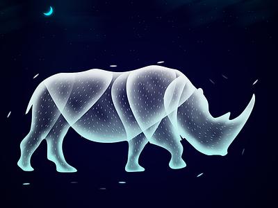 Rhinoceros rhinoceros fantasy magic design illustration ethereal soul animal beauty creature