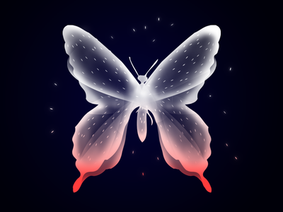 Butterfly fantasy magic design illustration ethereal soul animal beauty creature butterfly