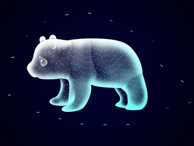 Panda bear fantasy magic design illustration ethereal soul animal beauty creature