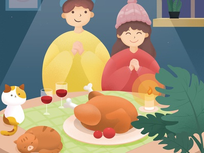 感恩节插图设计