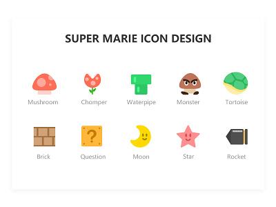 super marie icon design - 01/21/2019 at 02:56 PM 图标 游戏 设计 ui